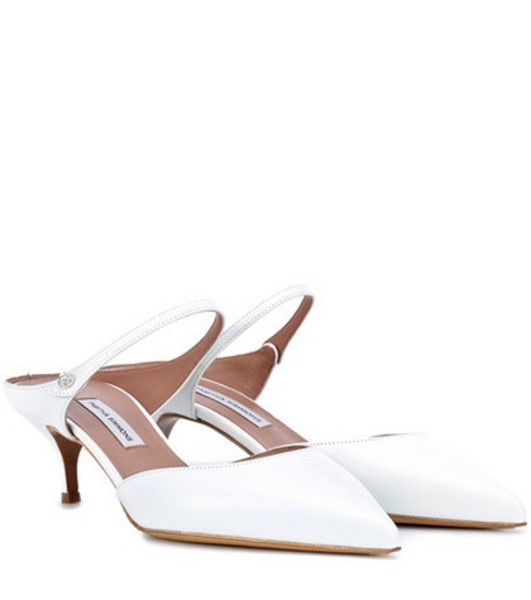 Tabitha Simmons Liberty leather pumps in white