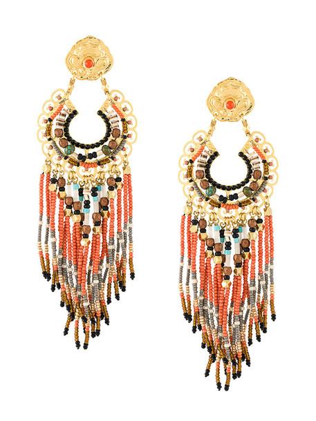Gas Bijoux women earrings gold yellow orange jewels