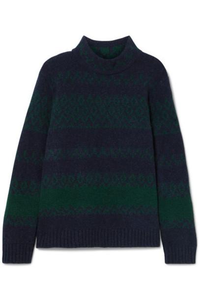 A.P.C. Atelier de Production et de Création sweater turtleneck turtleneck sweater navy wool