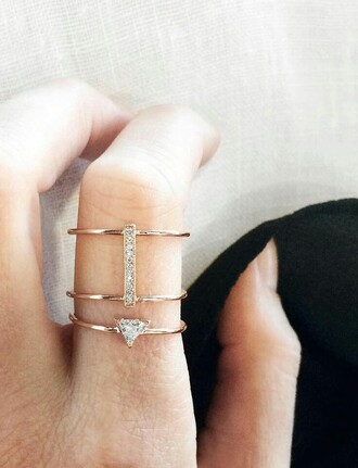 jewels ring gold ring jewelry bling gold dainty jewerly
