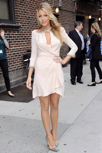 dress blake lively pink dress short pink dress flowy dress summer dress white dress blake lively dress