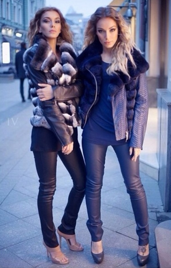 jacket fur vest fashion sexy pants