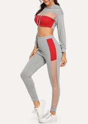 jumpsuit,girly,girl,girly wishlist,two-piece,matching set,grey,joggers,cropped,cropped sweater,crop,crop tops,mesh