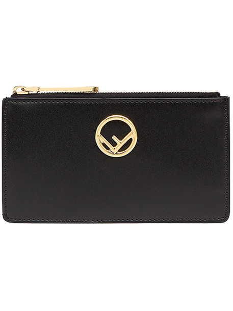 Fendi - cardholder pouch - women - Calf Leather - One Size, Black, Calf Leather