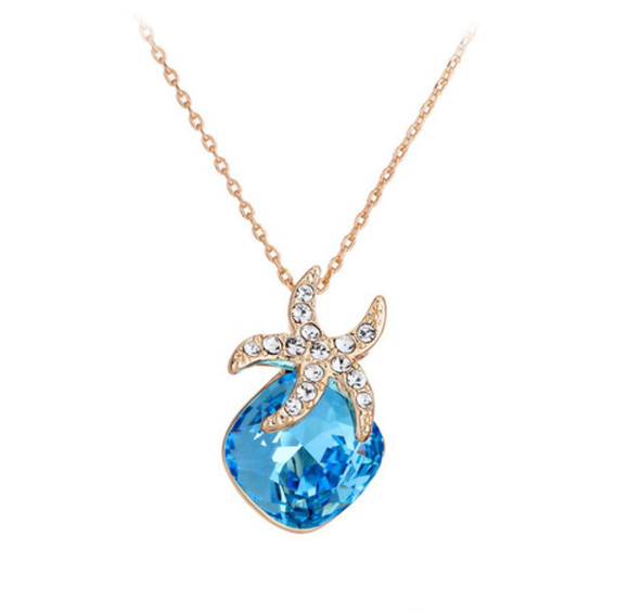 jewels crystal necklace blue
