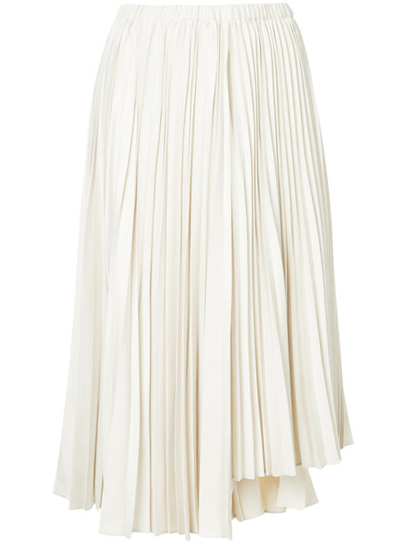 Estnation skirt pleated skirt pleated women white