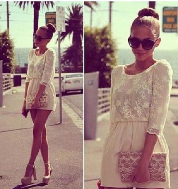 dress summer dress white lace lace dress hot white dress prom dress short dress romper marque