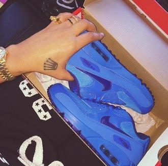 blue blue air max air max nike air max 90 bright bright blue blue airmax nike nike air max blue