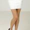 Reptile detailed bandage mini skirt - white