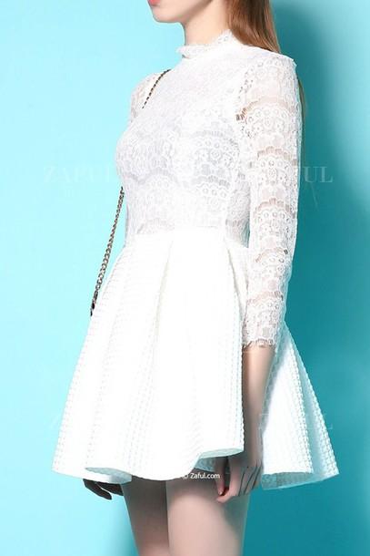 9e61f405ec2e1 dress lace dress white lace white lace white lace dress mini dress white  mini dress cute