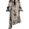 Ines asymmetric-hem silk-chiffon dress