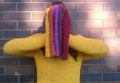 hat,beanie,women beanie,knitted beanie,knit hand made,trendy,trendy beanie,slouchy beanie,acrylic hat