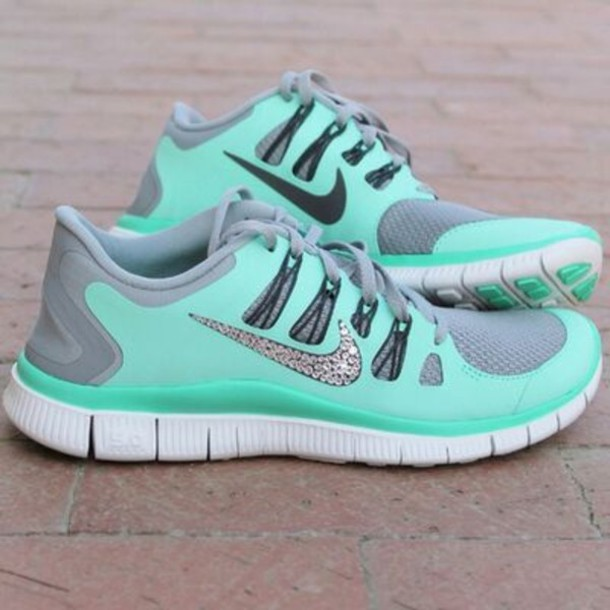 sale retailer 8569e d8bdb shoes shorts teal nike free run women nike free5.0 running fitness girl  glitter sparkle