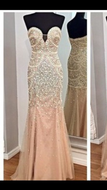 dress sparkly dress prom dress pink dress long dress