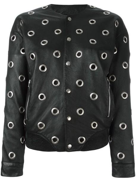 Saint Laurent jacket teddy jacket women cotton black