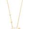 Vivienne westwood selene pendant necklace - white mop/crystal