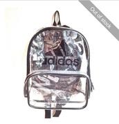 bag,See through bag,adidas,black,school bag,backpack