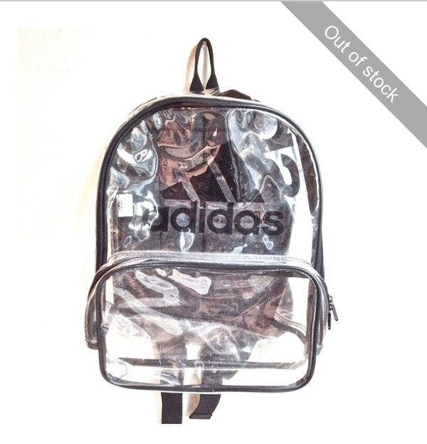 bag See through bag adidas black school bag backpack