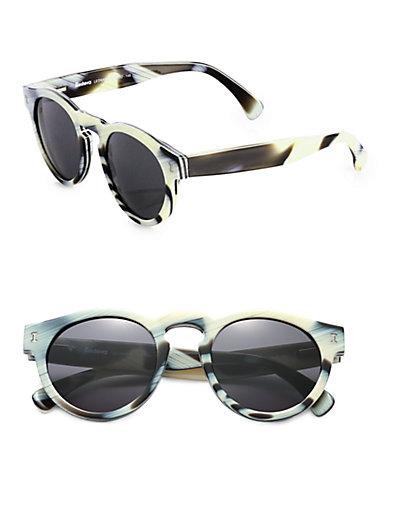 Illesteva - Leonard Round Sunglasses - Saks.com