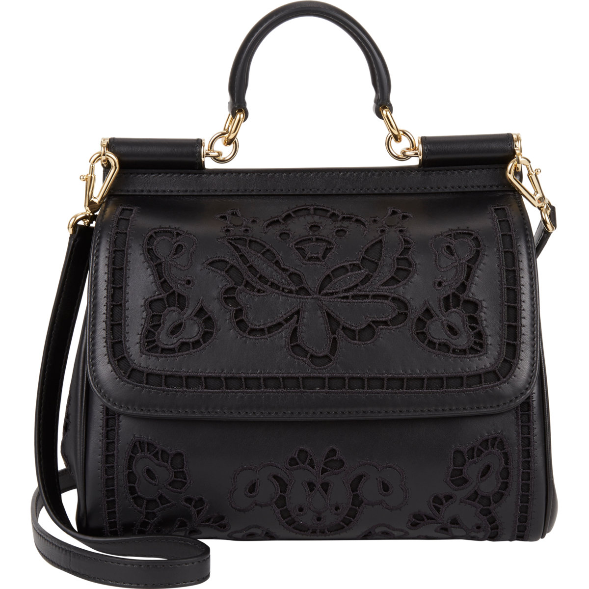 d883bb86181f Dolce   Gabbana Floral-Cutout Medium Miss Sicily Bag at Barneys.com