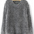 Pull-over large en mohair -Gris