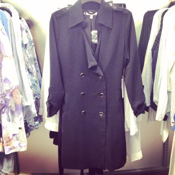 buttons cute long jacket coat kohl's black silver jeniffer lopez