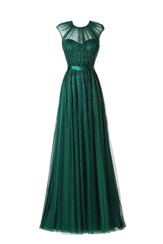dress forest green prom dress formal