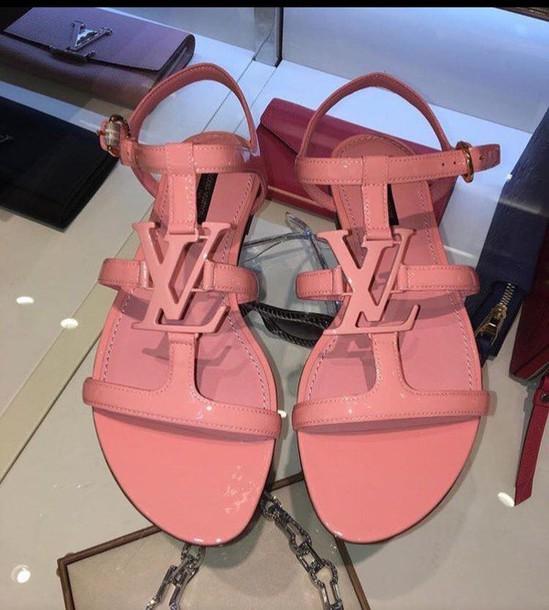 96b02823843c4 shoes sandals louis vuitton pink