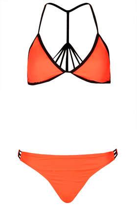 Watermelon Strappy Back Bikini - Swimwear - Clothing - Topshop