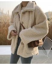 coat,girly,girl,girly wishlist,button up,teddy bear coat