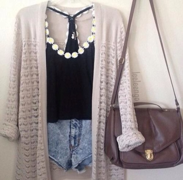 tank top bag shorts sweater t-shirt blouse