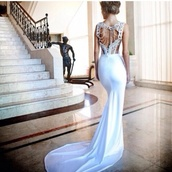 dress,cream prom dress,wedding dress,lace dress,open back,long,wedding,white dress,mermaid wedding dress,fishtail dress,fishtail,jewels,beading,prom dress,long prom dress,white prom dress,gold prom dress,backless prom dress,bckless dress,lace wedding dress,white,beautiful,formal,amazing,formal dress,needf,wow,lace,gorgoues,my god,nice,1000000,pleas,wannt,gossip girl,sequin dress,beaded,long dress