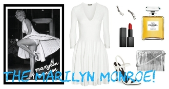 dress outfit outfit idea cute outfits marilyn monroe white white dress movie star movie inspired fashion inspo