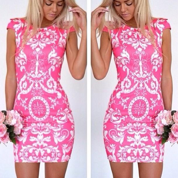 dress, dress, dress pink, white dress, party dress, party dress ...