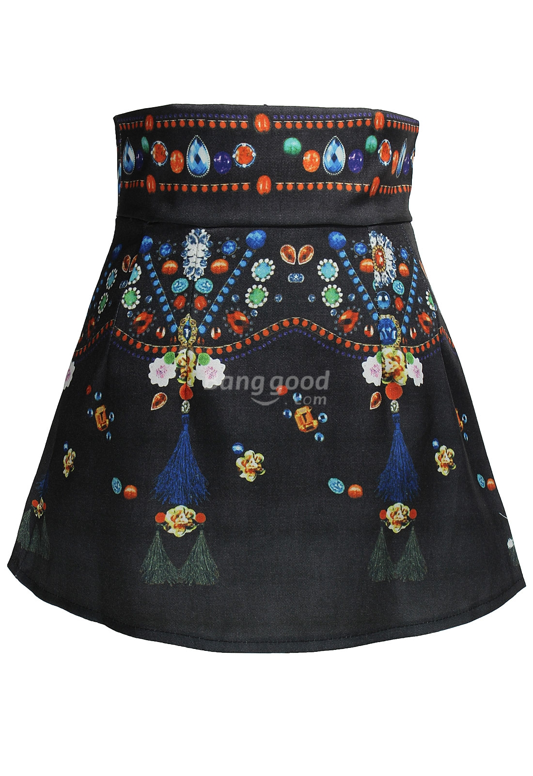 BG-impression Women's Vintage Flower Short Skirt - CA$14.88