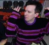 sweater,knit,mens,stripes,amazingphil,dan and phil,dan howell