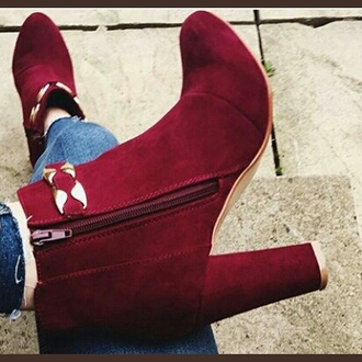 shoes burgundy boots bottes ankleboots
