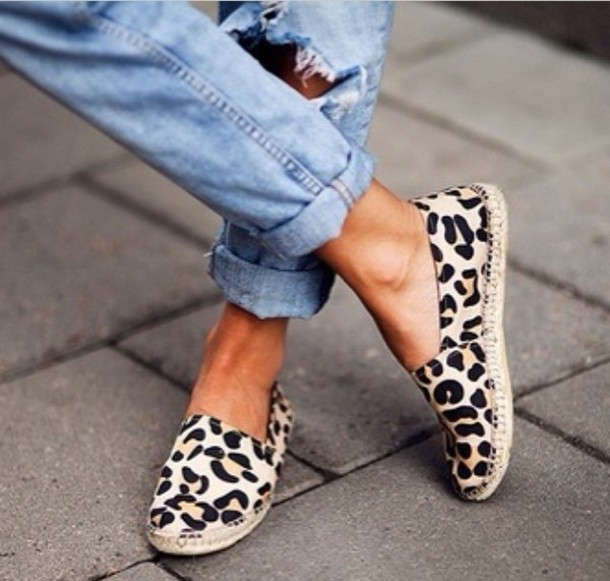 Shoes: leopard print, summer shoes, animal print ...