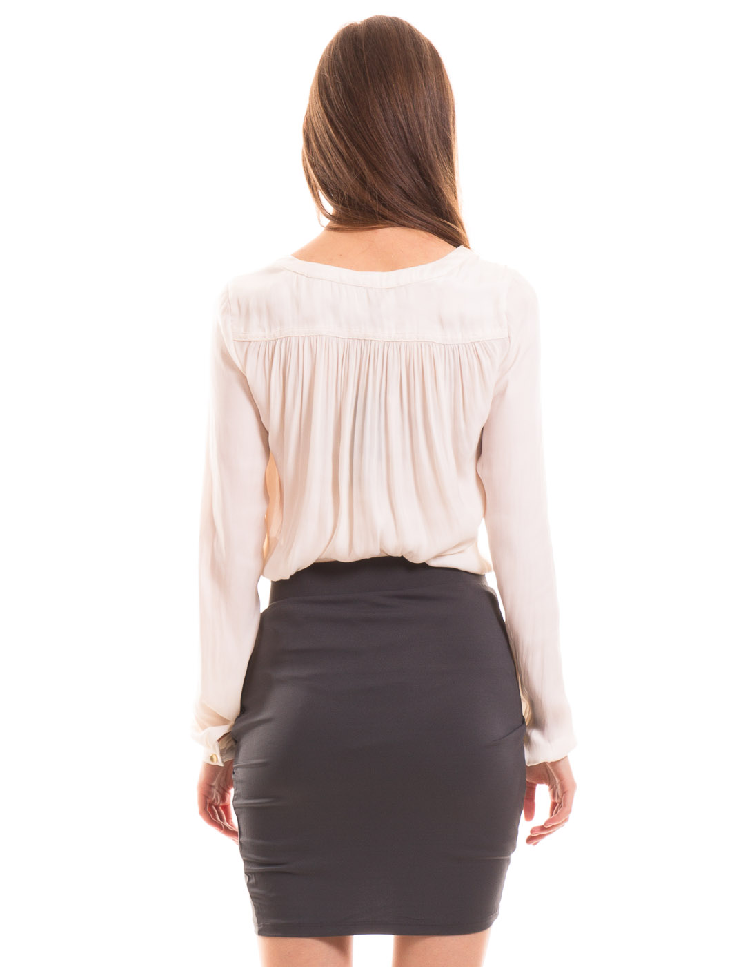Falda drapeada ajustada de vila clothes