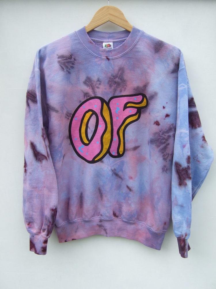 2f07ec51bbf780 DIP Tie Dye Ombre Odd Future Donut OFWGKTA Top Sweater ...