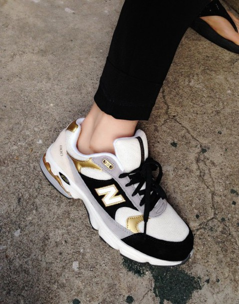 f29dc5cab6ed baskets sneakers girl women new balance new balance sneakers new balance  shoes white gold