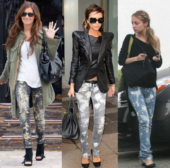 nicole richie jeans ashley tisdale victoria beckham acid wash