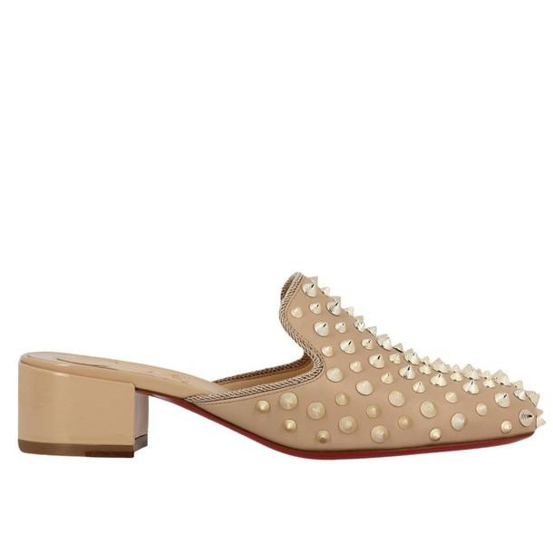 christian louboutin women shoes nude