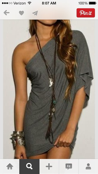 dress one shoulder jersey pinterest