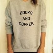 sweater,grey,book,coffee,hipster,tumblr,teenagers