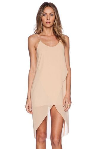 dress nude dress nude slip dress slip dress wrap dress summer dress sexy dress spaghetti strap spaghetti straps dress