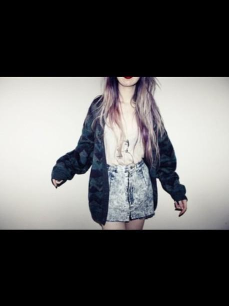 jacket grunge grunge jacket cardigan