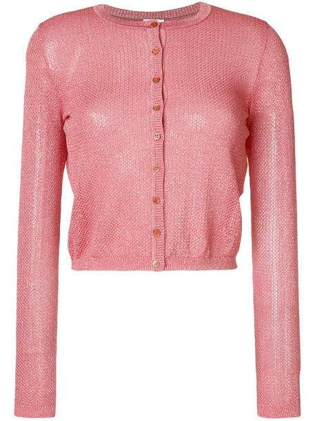 M Missoni cardigan knitted cardigan cardigan cropped metallic women cotton purple pink sweater