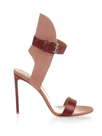 sandals leather suede red shoes