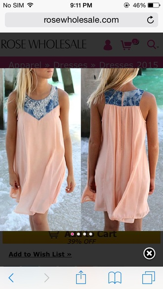 dress summer dress peach beach dress beach summer chiffon dress sea